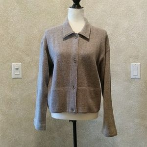 J Crew Sweater Jacket GUC Sz M